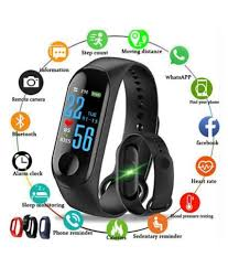 <b>M3 Waterproof</b> Heart Monitoring Smart Fitness Band Heart Rate ...