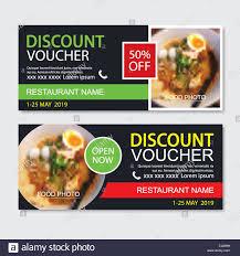 Discount Gift Voucher Asian Food Template Design Noodles