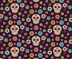 Skull Pattern Awesome Sugar Skulls Vector Seamless Pattern Vector Art Graphics