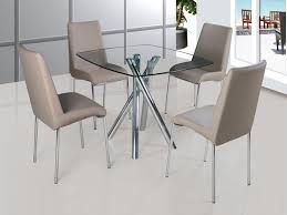 savio small glass chrome dining room table and 4 chairs glass dining table and chairs