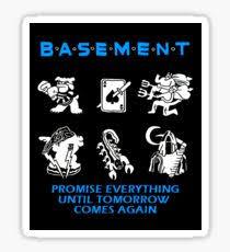 basement band logo. Interesting Logo Basement Sticker With Band Logo U