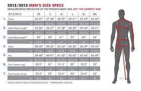 Mens Clothing Size Chart 686 Snowboard Clothing Size