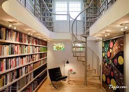 stunning bookcase with ladder design bookcase lighting ideas