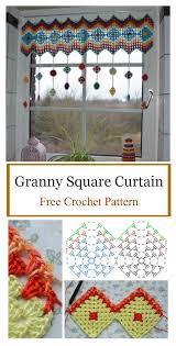 granny square curtain