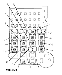 1988 silverado fuse diagram wiring diagrams long