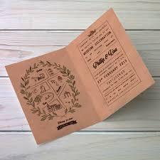 Wedding Invitation Folding A4 Folded Wedding Invitations