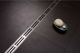 linear drain black rubber floor