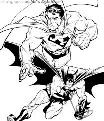 Small Picture Batman Versus Superman Coloring Pages Coloring Pages