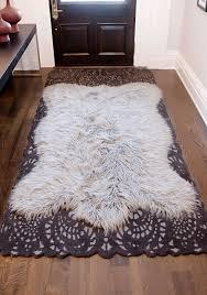 inspirational faux fur area rugs photos home improvement splendi sheepskin rug x brown