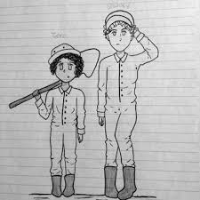 for inktober i present stanley and zero from