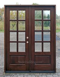 exterior double doors. Mahogany French Doors Exterior 8-lite Double Y