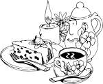 Картинки тарелки натюрморт раскраски