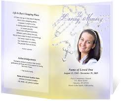 Memorial Pamphlet Template Funeral Flyer Templates Best Creative Memorials With Funeral Program