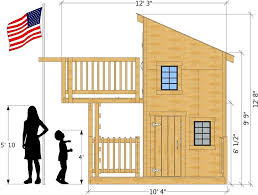 diy playhouse plans new deluxe loft clubhouse plan