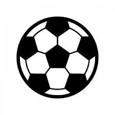 サッカーボールのシルエット 無料のaipng白黒シルエットイラスト