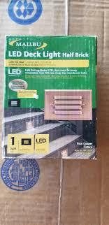 Malibu Led Deck Light Half Brick Malibu Led Low Voltage Deck Light Half Brick Copper