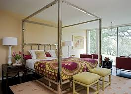 Chrome Canopy Bed - Contemporary - bedroom - Angie Hranowsky