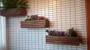 diy pallet wall hanging planters