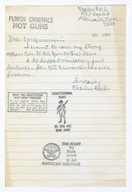 examining the second amendment using plain writing and historical  letter from charles koch opposed to gun control laws 12 3 1975