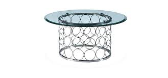 circular coffee table stainless steel with chrome finish and clear glass small round tray circular coffee table