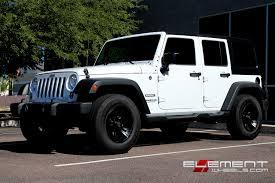 jeep wrangler white black rims.  White 17 Inch XD Series Crank Matte Black On 2015 Jeep Wrangler W Spec Custom  Wheels And White Rims