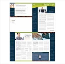 Free Newsletter Layout Templates Fascinating Business Newsletter Templates Free Word Hiyaablog