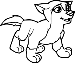 Small Picture Young Alpha And Omega Wolf Coloring Page Wecoloringpage