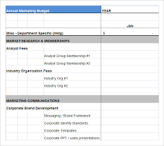 Excel Templates For Budgeting Marketing Budget Template 22 Free Word Excel Pdf Documents