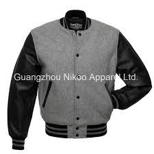 china custom quality plain wool baseball varsity jackets with leather sleeves china plain wool varsity jackets embroidery letterman baseball jacket