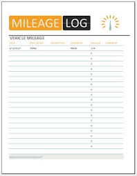 Printable Mileage Log Templates For Excel Word Excel