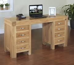 solid oak office desk. Rivermead Solid Modern Oak Furniture Large Office PC Desk E
