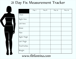 Body Measurements Tracking Sheet Health And Fitness