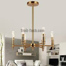6 headed 86041 6 e14 d56h45 gold crystal chandelier ceramic energy saving