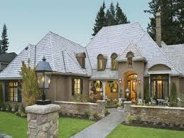 Cottage Style Single Story Home Exterior  French Country Style French Country Ranch Style House Plans