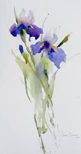 flower watercolor janet rogers irises