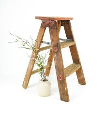 wooden folding step ladder