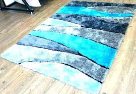 round turquoise rug teal green area