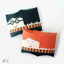 pillow boxes. harry potter pillow box treat boxes and party favors
