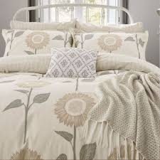 sanderson sundial duvet cover for king size bed in linen detail jpg