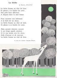 Dessin De Poesie La Biche L