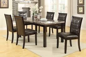 Marble Top Kitchen Table Set Real Marble Top Dining Table By Poundex F2296 Genesis Furniture