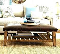 nailhead coffee table vanguard antique brass and wood inlay