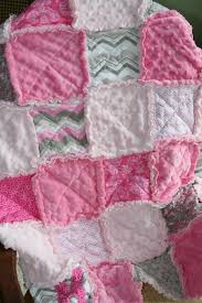 56 best Baby Gear images on Pinterest | 3 i, Baby products and ... & Baby Girl Rag Quilt Pink Grey Nursery Adamdwight.com