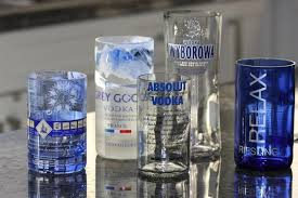 make and drinking glasses made from bottles
