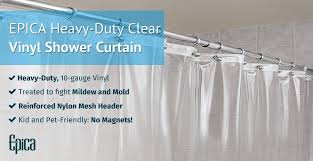 keep safe while you protect against invading bacteria and mildew with epica s heavy duty clear mildew resistant shower liner our new heavy duty liner is