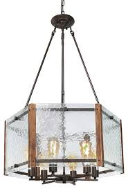lnc 6 light rustic foyer pendant lighting chandeliers transitional chandeliers by lnc