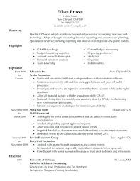 Accounting Resume Examples Entry Level Graduate Accountant Sample