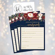Hadley Designs Hadley Designs 50 4x6 Navy Floral Wedding Advice Well