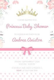 Royal Invitation Template Free Princess By Shower Invitation Templates Free Princess
