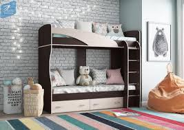 <b>Кровать</b> 2-х ярусная «<b>Мийа</b> (А)» (венге/дуб молочный)